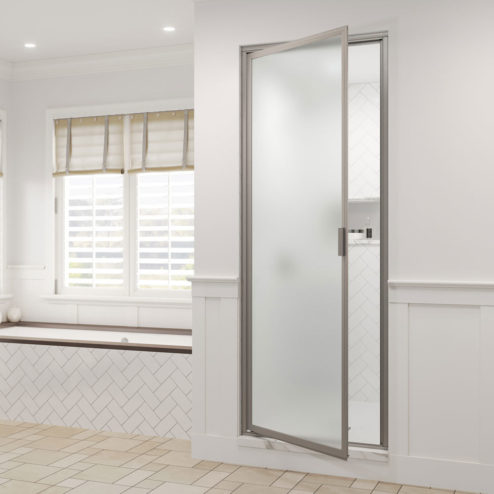 Seal Tight Steam Framed 3/16- inch Glass Swing Shower Door